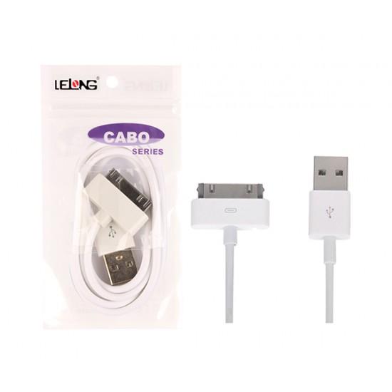 7ecc2d05355 CABO USB IPHONE 4 LE-106 - Rei do TI